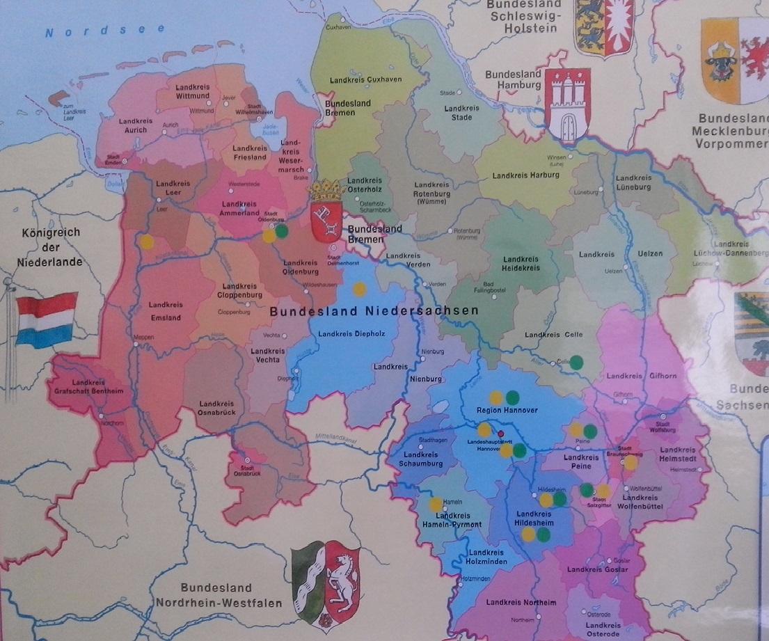 In über 20 Standorten in Niedersachsen werden die Programme Rucksack Kita und Griffbereit umgesetzt, mehr als 160 Gruppen sind derzeit gemeldet.