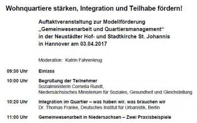 EInladung zur Auftaktveranstaltung am 3.April 2017